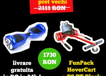 Hoverboard FunPack S8 BT + Hovercart Transport in 24-48 de ore