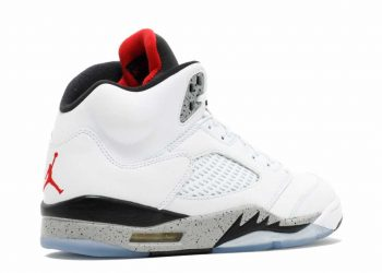 Jordan Retro 5 White/University Red/Black/Matte Silver