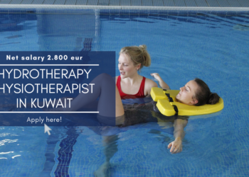 Female hydrotherapy physiotherapist